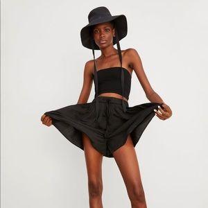 Zara Black Pleated Shorts